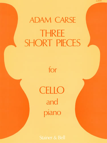 Carse: 3 Short Pieces for Cello published by Stainer and Bell