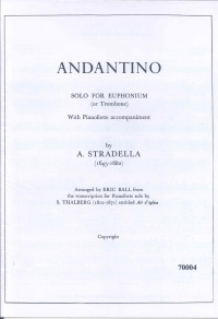 Stradella: Andantino for Euphonium published by G & M