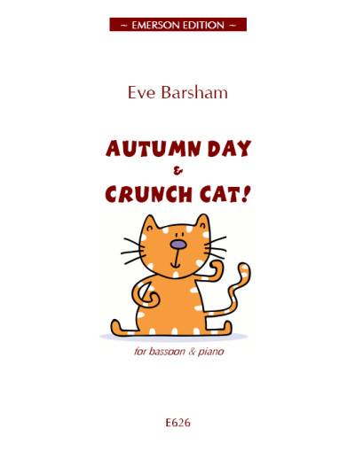 Barsham: Autumn Day & Crunch Cat! for Bassoon published by Emerson