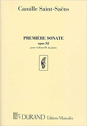 Saint-Saens: Cello Sonata No 1 in C Minor Opus 32 by published by Durand