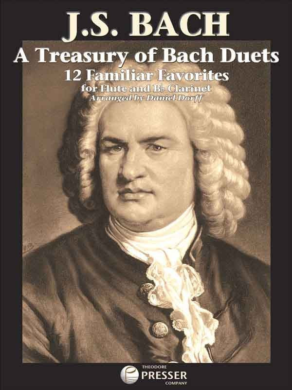 Bach: A Treasury of Duets for Flute & Bb Clarinet published by Presser