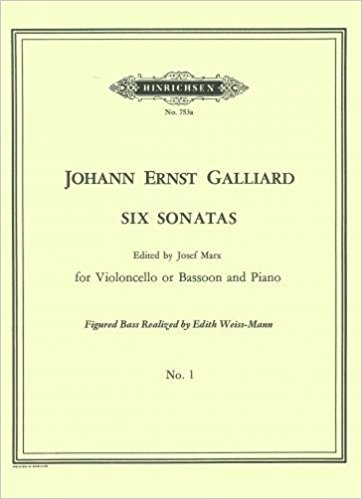 Galliard: Sonata No 1 in A Minor for Bassoon or Cello published by Hinrichsen