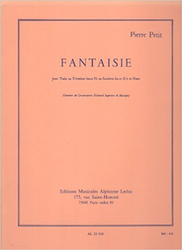 Fantaisie for Tuba or Bass Trombone by Petit published by Leduc