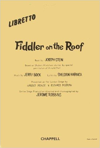 Forwoods Scorestore Fiddler On The Roof Libretto