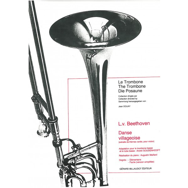 Beethoven: Danse Villageoise for Bass Trombone published by Billauot