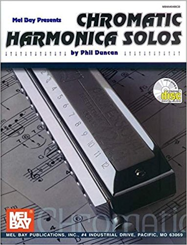 Chromatic Harmonica Solos Book & CD published by Mel Bay