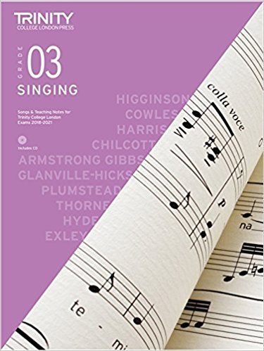 Trinity College Singing Grade 3 From 2018 Book & CD