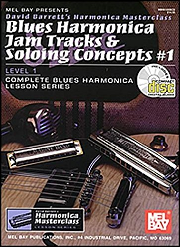 Blues Harmonica Jam Tracks & Soloing Concepts #1 Book & CD published by Mel Bay