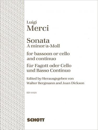 Merci: Sonata in A Minor Opus 3/6 for Bassoon or Cello published by Schott
