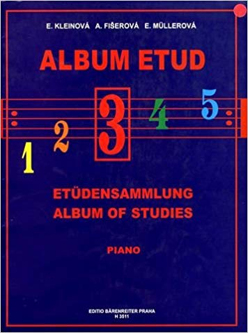 Album of Studies 3 for Piano published by Barenreiter