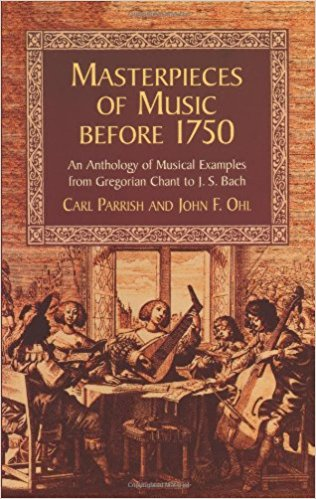 Masterpieces Of Music Before 1750 published by Dover