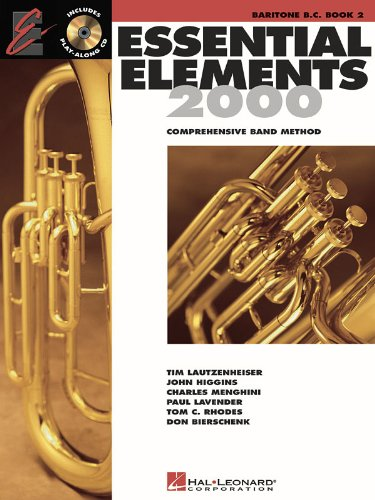 Essential Elements 2000: Baritone Bass Clef Book 2 (CD Edition) published by Hal Leonard