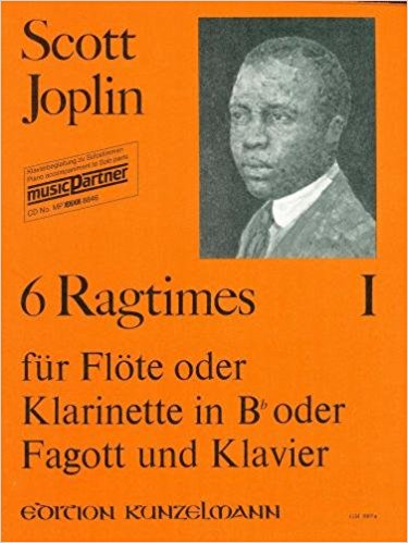 6 Ragtimes for Flute, Clarinet or Bassoon by Joplin published by Kunzelmann