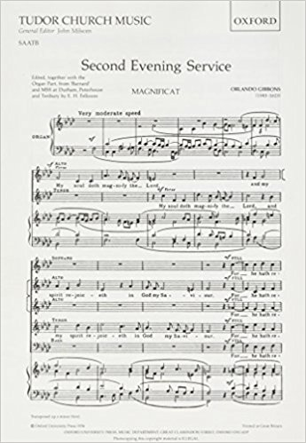 Gibbons: Second Evening Service (Magnificat and Nunc Dimittis) published by OUP