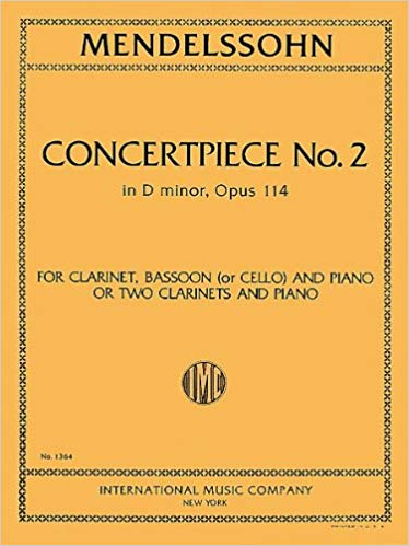 Mendelssohn: Concertpiece No 2 in D minor Opus 114 published by IMC