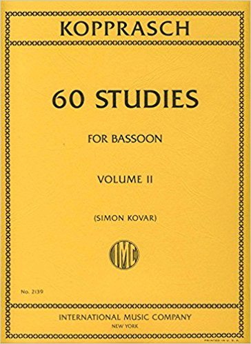 60 Studies Volume 2 for Bassoon by Kopprasch published by IMC