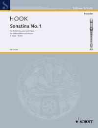 Hook: Sonatina No 1 in F for Treble Recorder published by Schott