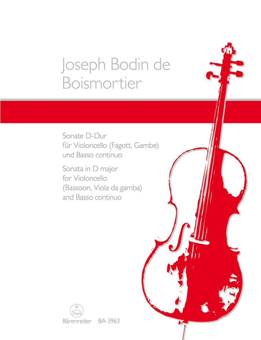 Boismortier: Sonata in D Opus 50/3 for Cello published by Barenreiter