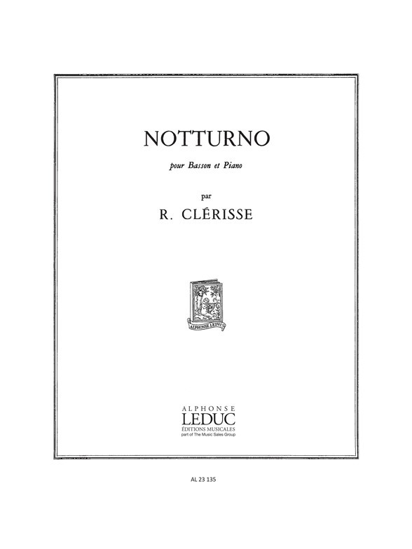 Clérisse: Notturno for Bassoon published by Leduc