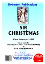 Cunningham: Sir Christemas SSATBB published by Roberton