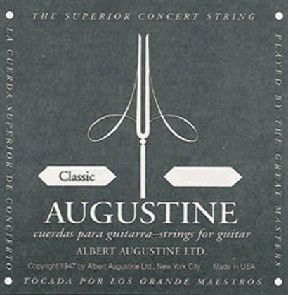 Augustine Black Label Classical Guitar Strings (Complete Set)