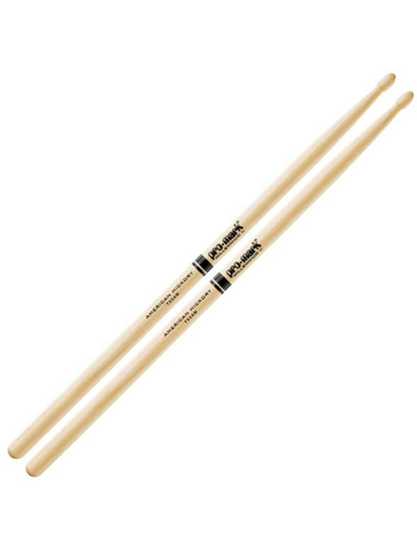 Promark: Classic Hickory 5A Wood Tip Drumsticks