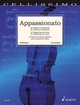 Cellissimo - Appassionato for Cello published by Schott