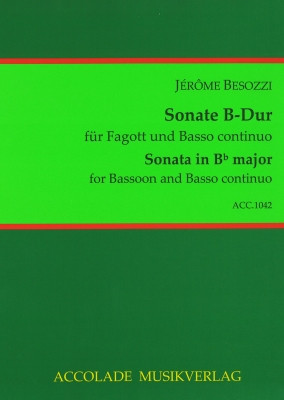 Besozzi: Sonata in B Flat for Bassoon published by Accolade Musikverlag