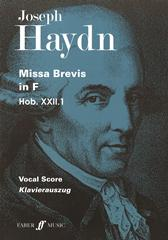 Haydn: Missa brevis in F major (Hob XXII:1) published by Faber - Vocal Score