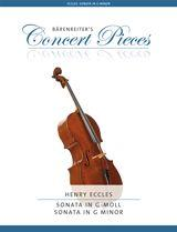 Eccles: Sonata in G Minor for Cello published by Barenreiter