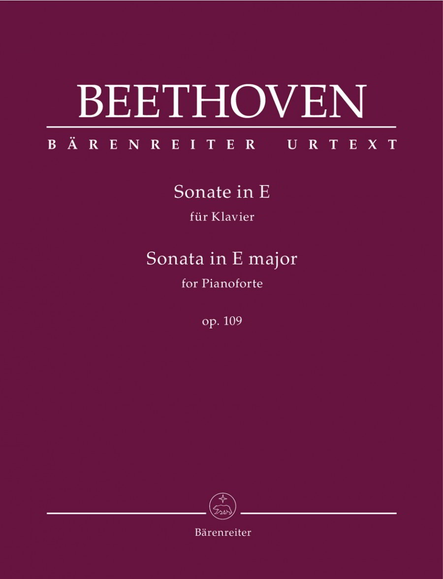 Beethoven: Sonata in E Opus 109 for Piano published by Barenreiter
