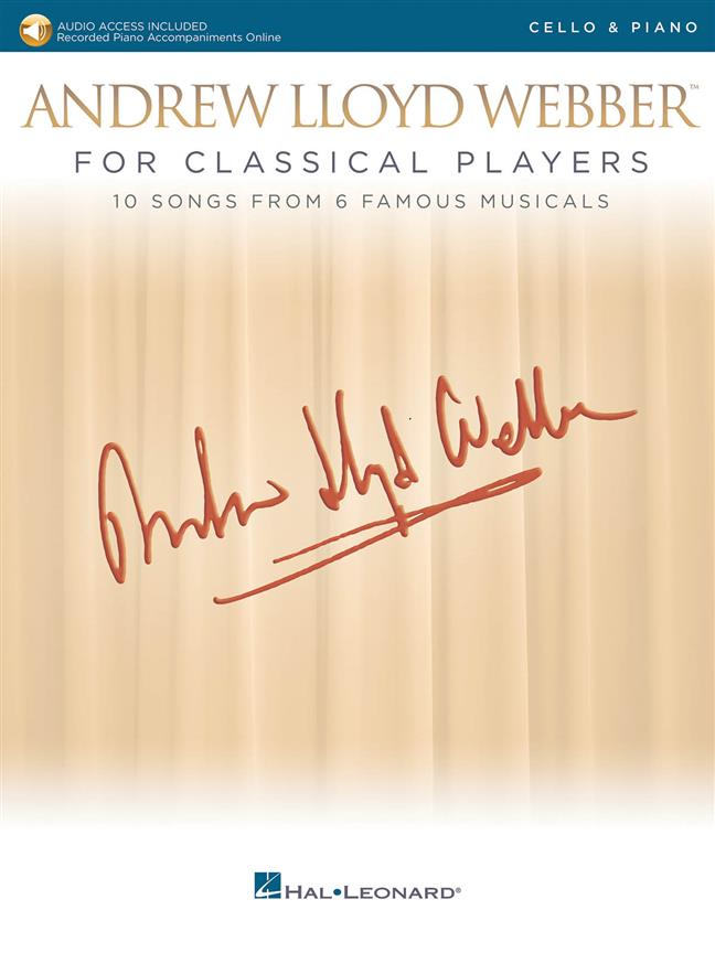 Andrew Lloyd Webber for Classical Players - Cello published by Hal Leonard (Book/Online Audio)