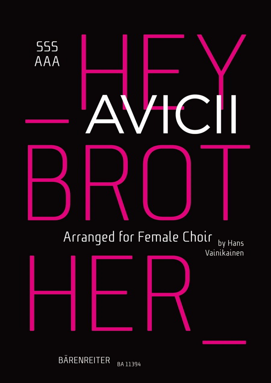 Avicii: Hey Brother SSSAAA published by Barenreiter