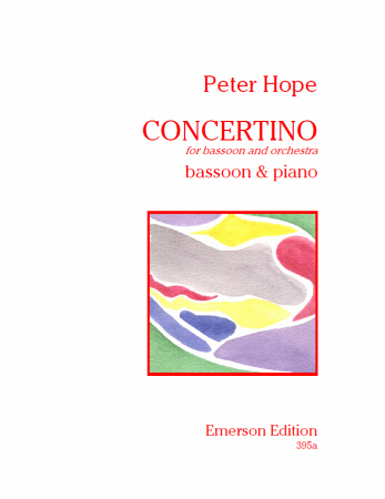 Concertino by Hope for Bassoon published by Emerson