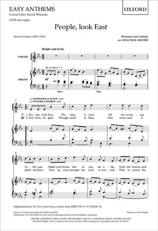 Archer: People, look East SATB published by OUP