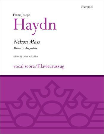Haydn: Nelson Mass (Missa in Angustiis) published by OUP - Vocal Score