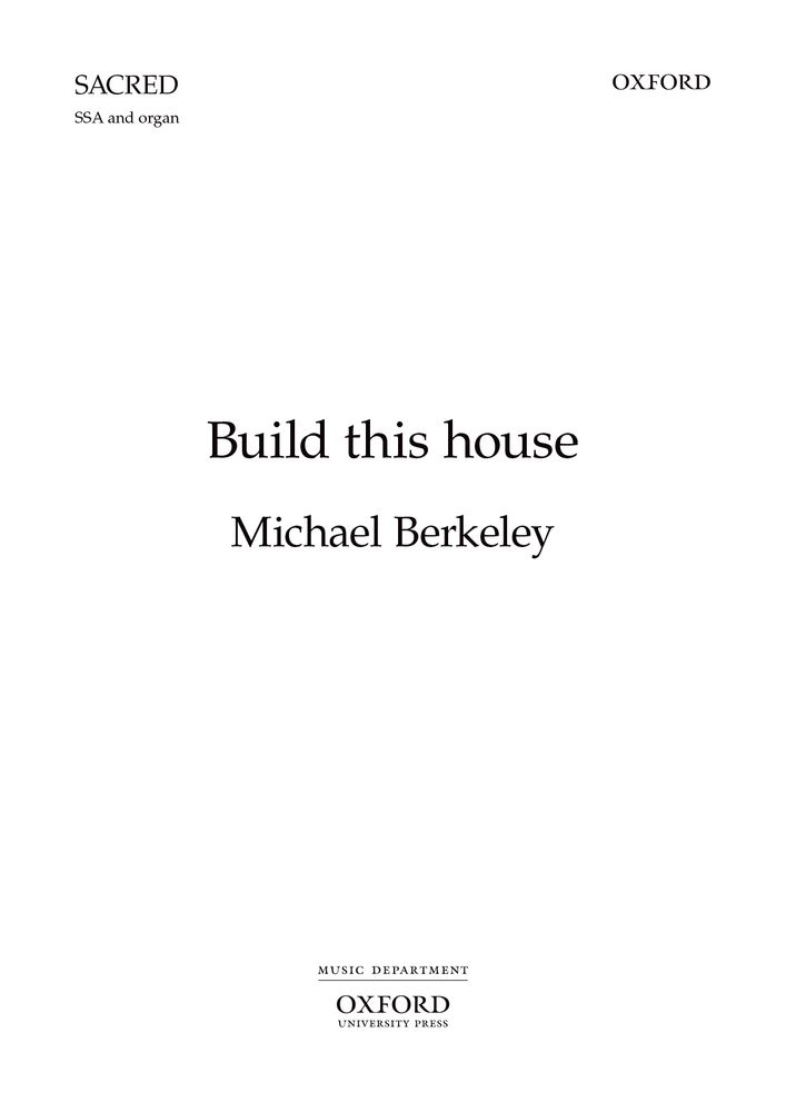 Berkeley: Build this house SSA published by OUP