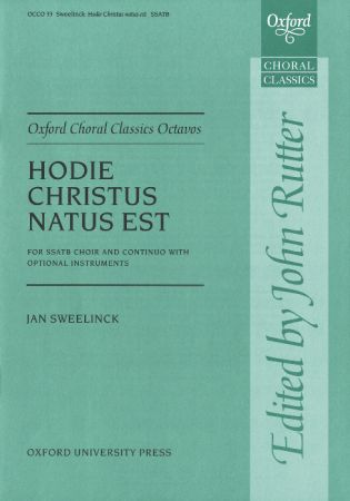 Hodie Christus natus est by Sweelinck published by Oxford University Press (OUP)