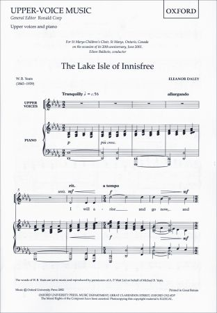 Daley: The Lake Isle of Innisfree SSA published by OUP