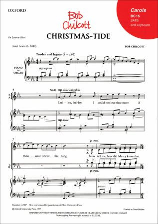 Christmas-tide by Chilcott published by Oxford University Press (OUP)