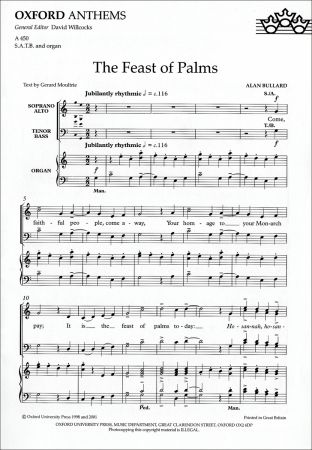 Bullard: The Feast of Palms SATB published by OUP