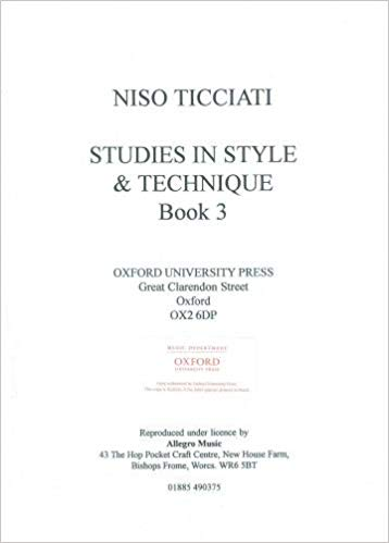 Ticciati: Studies In Style & Technique Book 3 for Cello published by OUP Archive
