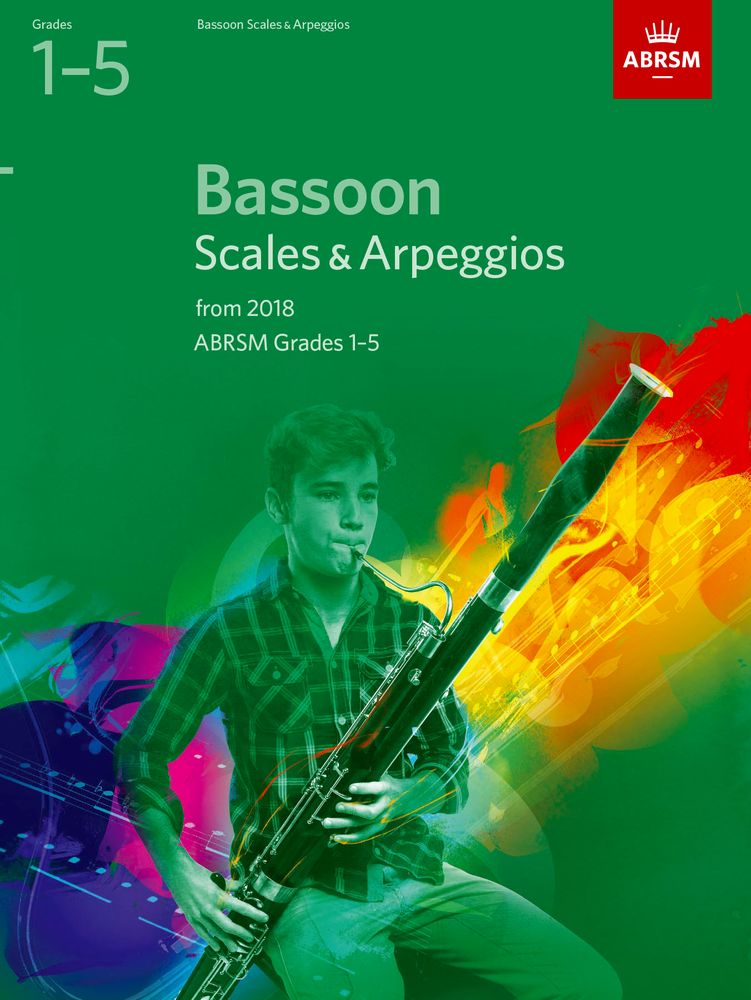ABRSM Scales and Arpeggios Grade 1 to 5 for Bassoon from 2018