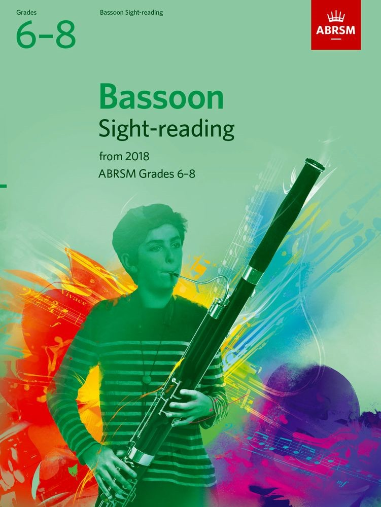 ABRSM Sight-Reading Tests Grade 6 to 8 for Bassoon from 2018