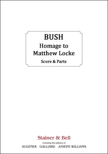 Burgon: Homage to Matthew Locke for Brass Sextet published by Stainer and Bell