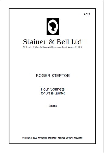 Steptoe: Four Sonnets for Brass Quintet published by Stainer and Bell
