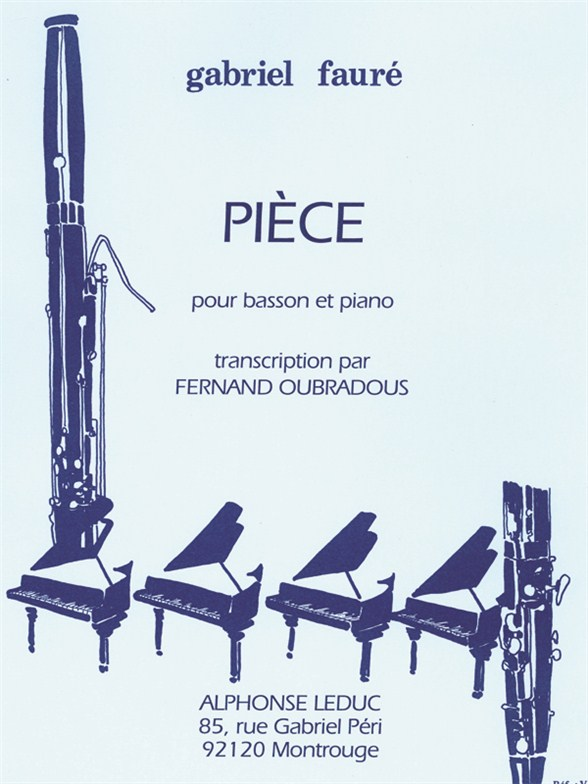 Piece Pour Basson et piano by Faure published by Leduc