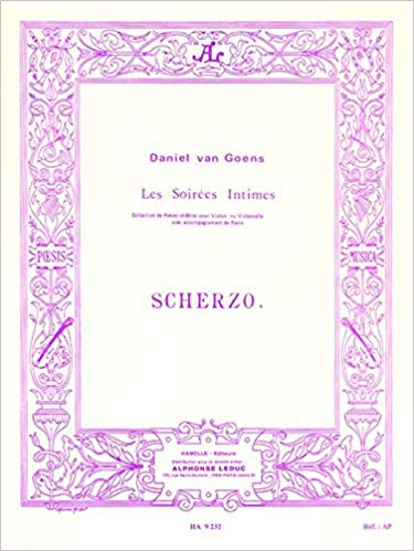 Goens: Scherzo Opus 12 for Violin or Cello published by Leduc