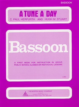 A Tune a Day Book 1 for Bassoon published by Boston Music Co