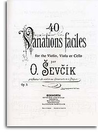 Sevcik: 40 Variations Opus 3 (Piano Accompaniment Only) published by Bosworth